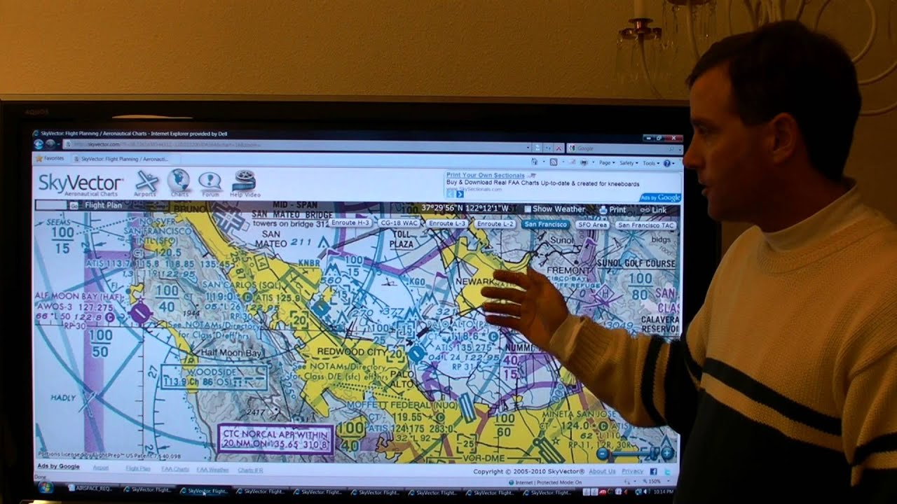 Skyvector flight vfr planning - Airspace Review 5 Of 6 Chart Types And Flight Planning
