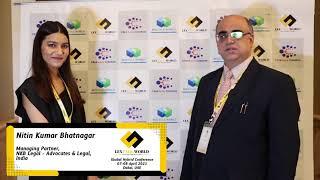 Mr. Nitin Kumar Bhatnagar sharing his thoughts on the LexTalk World Conference, Dubai 2021