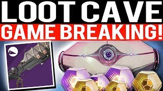 Destiny 2 - LOOT CAVE UNLIMITED DROPS XP PINNACLES & MORE!! (Game Breaking)