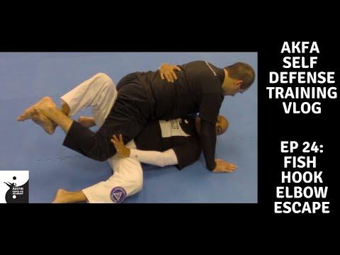 AKFA Self Defense Training Vlog -Ep 24- Fish Hook Elbow Escape