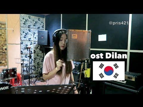 (DILAN) Iqbaal Ramadhan - Rindu Sendiri in Korean & Indonesian