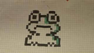 Рисуем по клеточкам лягушку. Урок #1