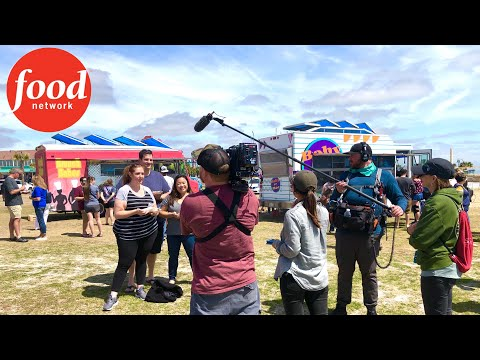 Food Network Filming 'The Great Food Truck Race' In Myrtle Beach, SC - Behind The Scenes