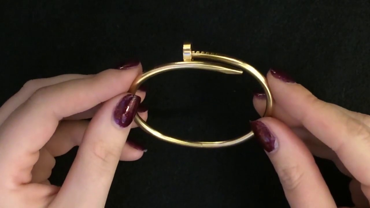 juste un yellow bracelet bangle karat clou cartier sz gold diamond itm