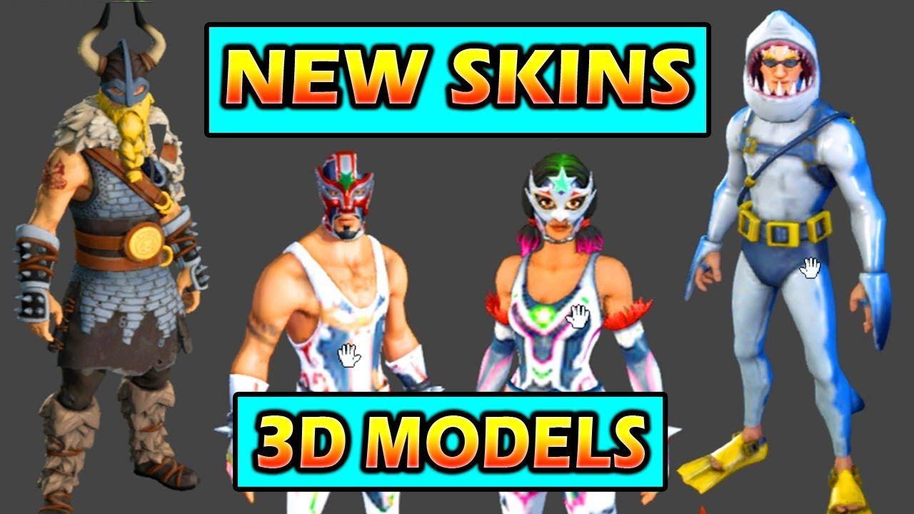 fortnite 3d models