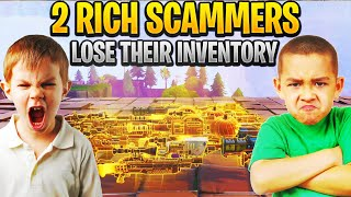 Two Insanely Rich Scammers Loses Their Inventory! (Scammer Gets Scammed) Fortnite Save The World
