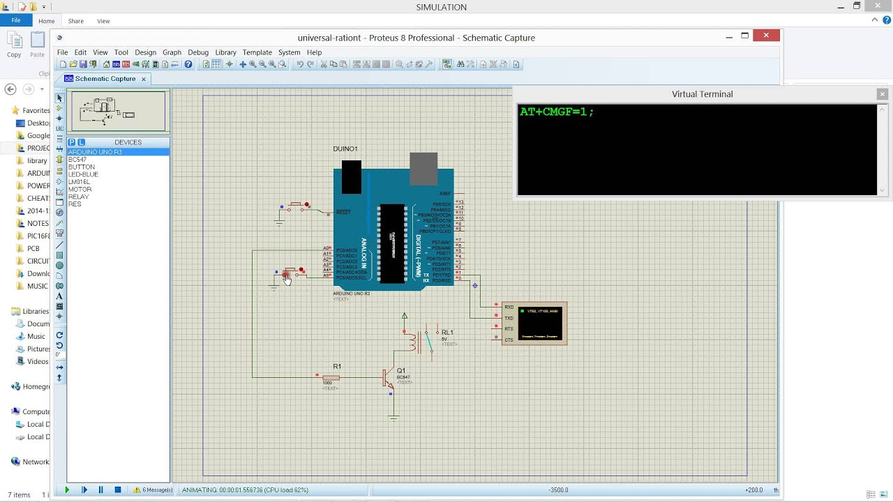 Gsm based power theft detection simulation proteus using