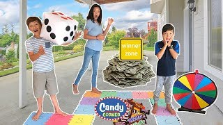 Epic GIANT BOARD GAME Challenge!!! Winners GETS $500