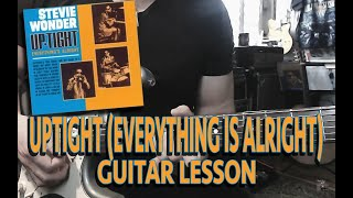 Uptight Everything's Alright - Stevie Wonder Guitar Lesson