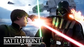 "Star Wars Battlefront: Multiplayer Gameplay | E3 2015 ""Walker Assault"" on Hoth(In Star Wars™ Battlefront™ you can battle in epic 40 multiplayer battles reminiscent of The Battle of Hoth. As the Empire, you must accompany AT-AT walkers as ..., 2015-06-15T21:16:25.000Z)"