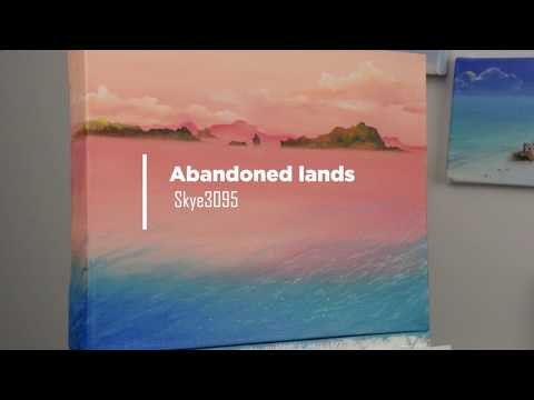 "Oil Painting Time lapse ""Abandoned lands"""