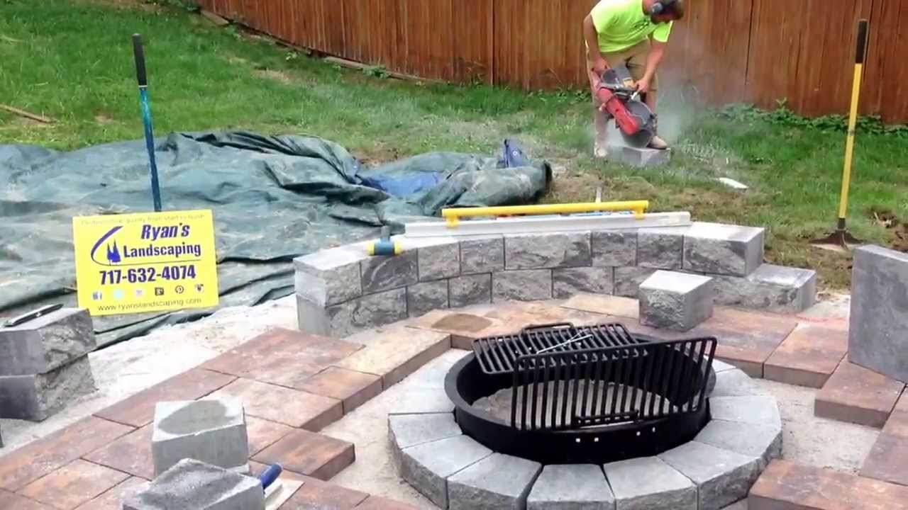 Cutting Nicolock Colonial Wall Block Seating