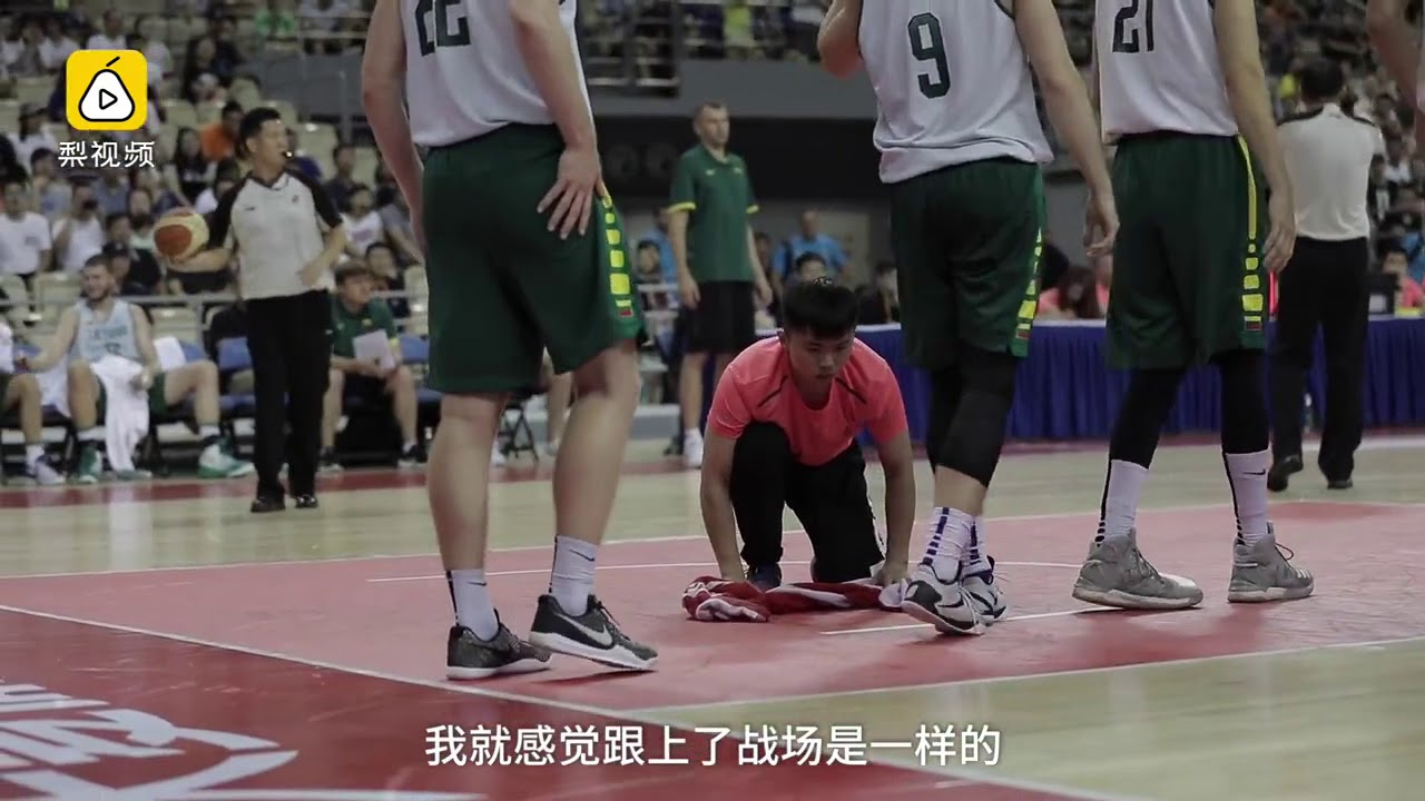 High-energy basketball court cleaner becomes a social media