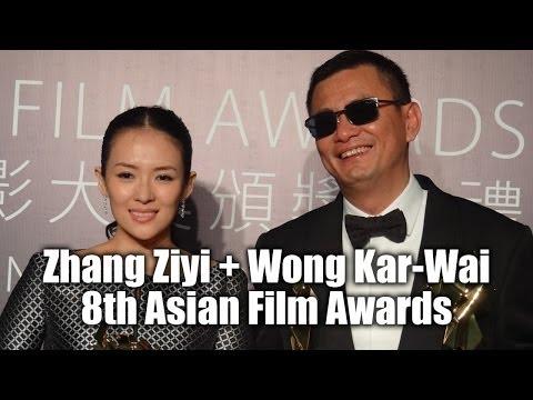 Wong Kar-Wai and Zhang Ziyi at 8th Asian Film Awards