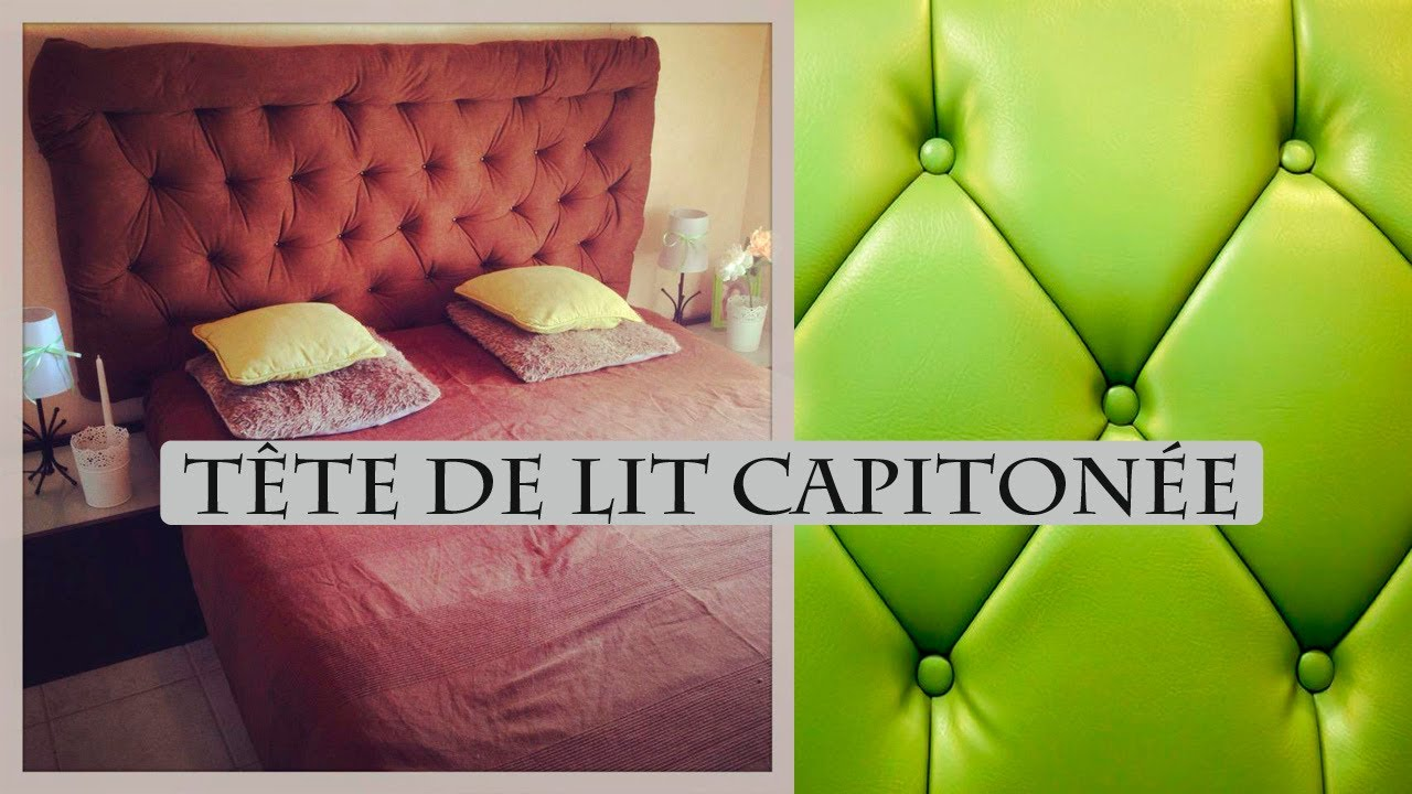 Diy t te de lit capitonn e headbord youtube for Tapisserie tete de lit