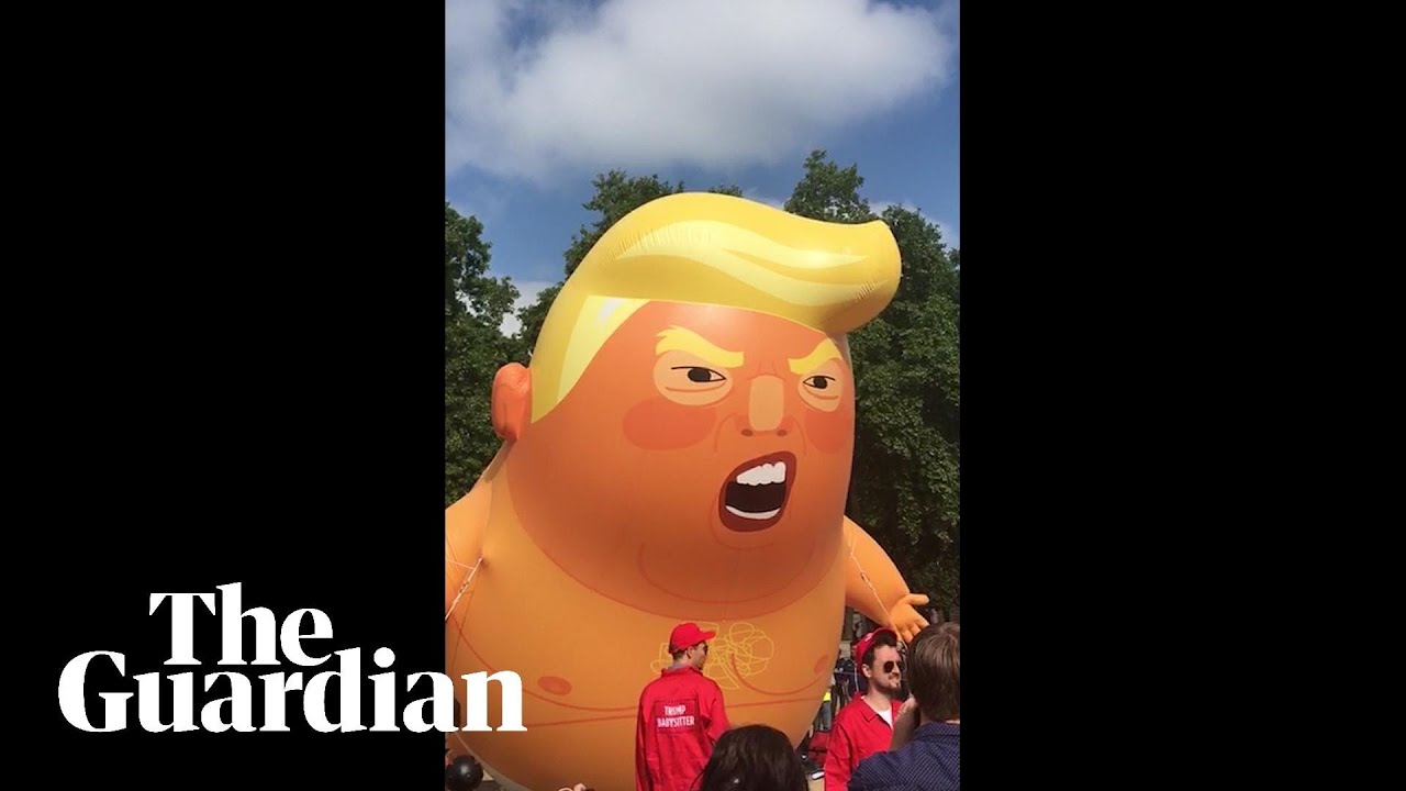 Trump baby blimp ready to take off