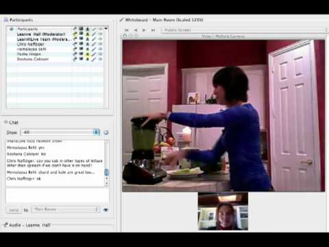 Make a Delicious Shake and Vegan cooking!  Interact in online cooking classes