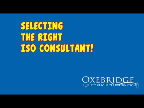 Selecting the Right ISO 9001 Consultant