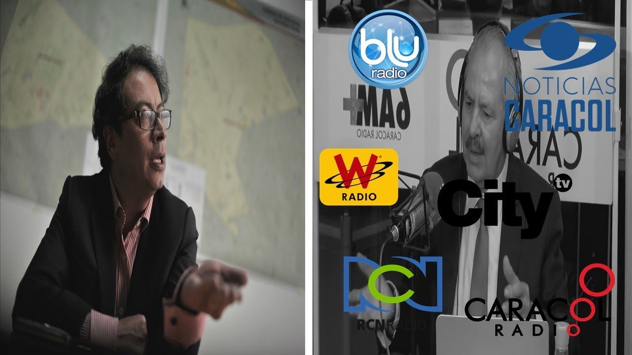 "¡¡Todo el periodismo ""imparcial"" contra Gustavo Petro!! Muy indignante"