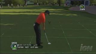Tiger Woods PGA Tour 08 Xbox 360 Gameplay - Perfect Putt