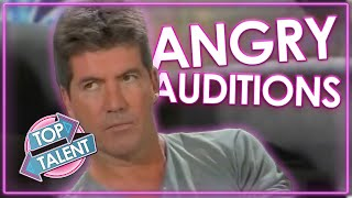 ANGRIEST And FUNNIEST Auditions Ever On American Idol | Top Talent