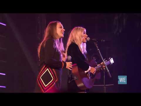 "Lennon & Maisy - ""Lean On"" (Major Lazer cover) | WE Day UN 2017"