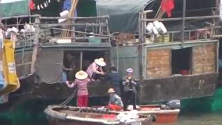 House Boats South China Sea Zhuhai  Wooden Boat People Village