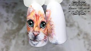 Рисуем КОТИКА!!! Животные на Ноготках!!!