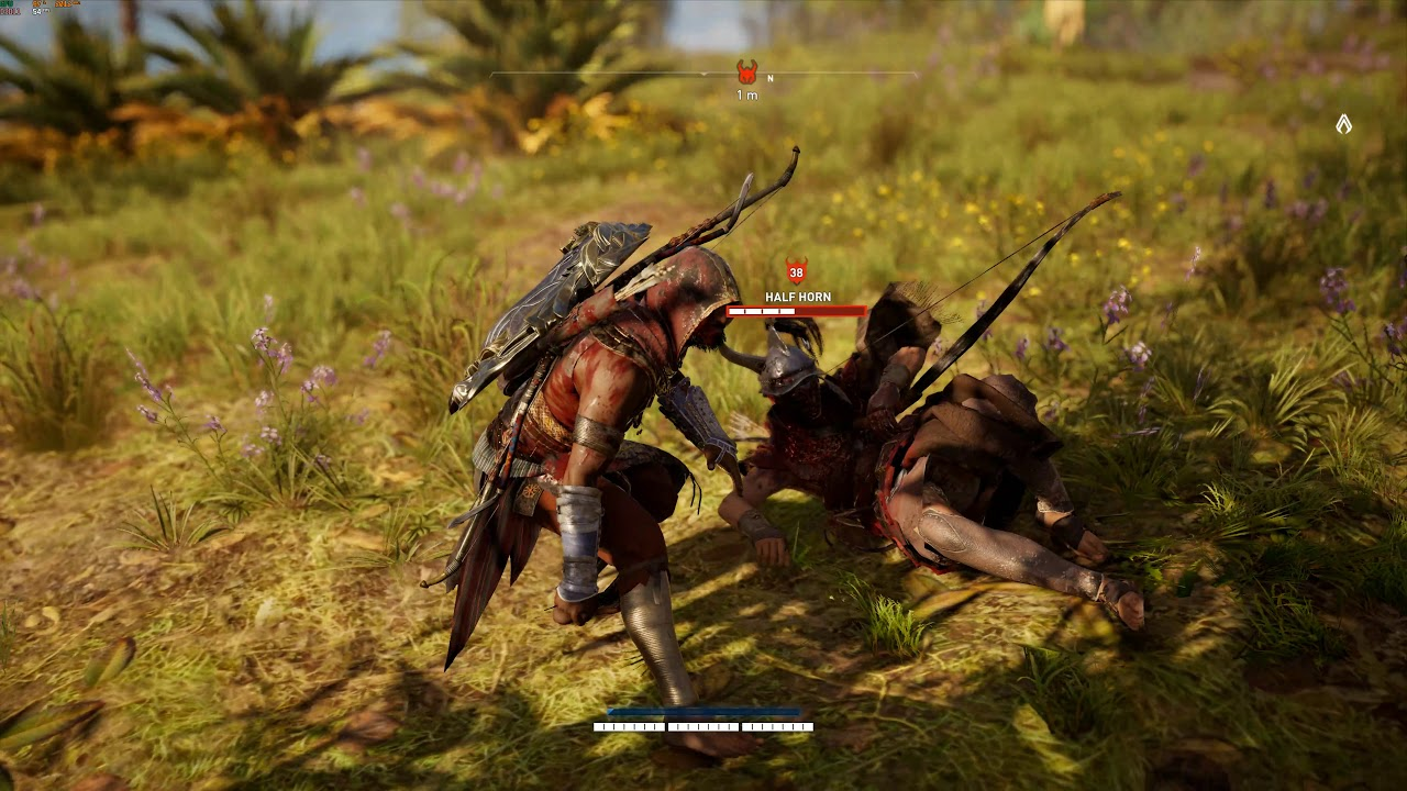 Assassin's Creed Origins Half Horn Fists only, Nightmare, no damage, items/consumables