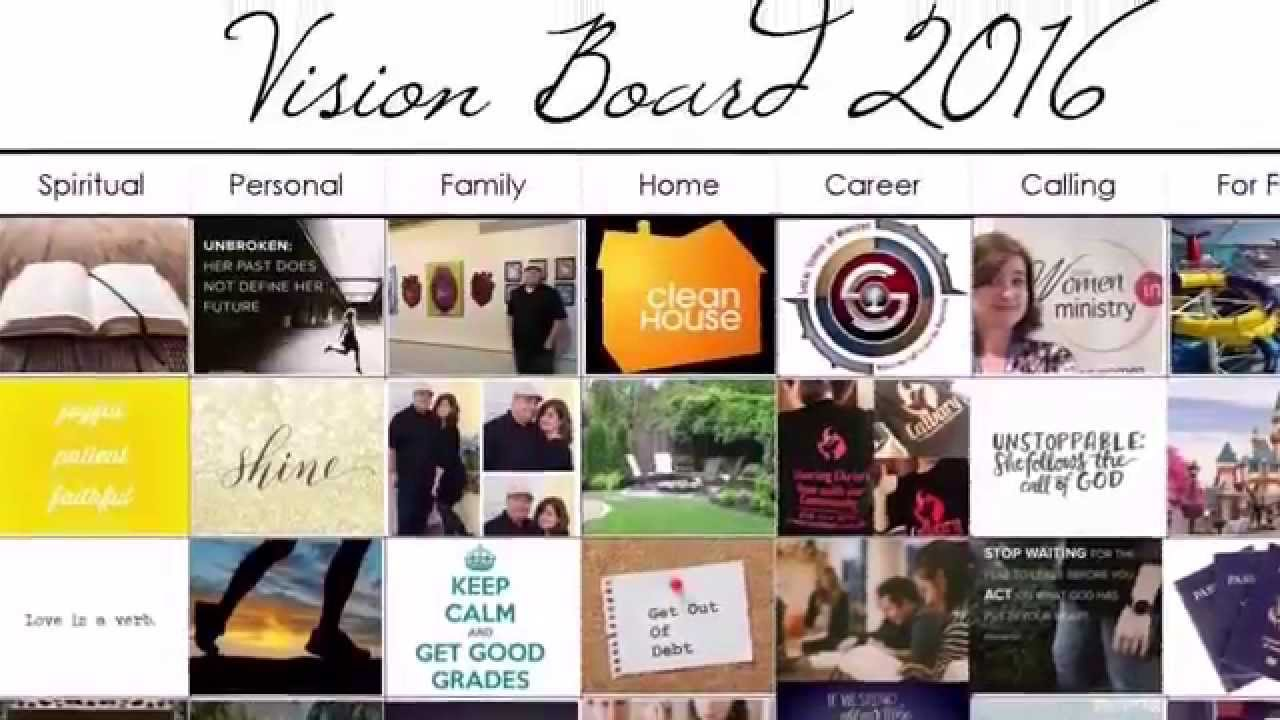 She organizes a digital vision board ms publisher youtube for Home design vision board