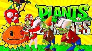 РАСТЕНИЯ ПРОТИВ ЗОМБИ--ВОТ И БАССЕЙН в игре plants vs zombies битва продолжается уровни зомби
