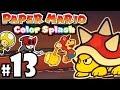 Paper Mario Color Splash - Wii U Gameplay Walkthrough PART 13 - Kiwano Temple: Big Spiny Boss Fight