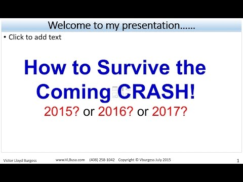 How to Survive the Coming Crash 2015