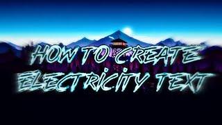 Comment Créer de l'Électricité de Texte! (IOS ET ANDROID (GRATUIT)