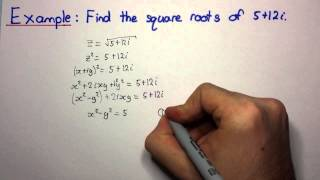 HSC Maths Ext2 - Complex Numbers - Finding Square Roots of Complex Numbers