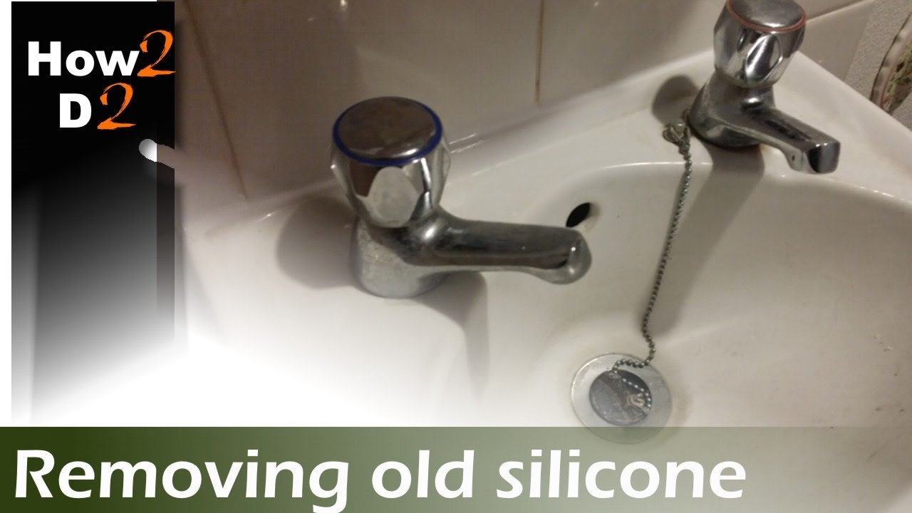 How to remove silicone sealant. Removing replacing silicone mastic from  basin
