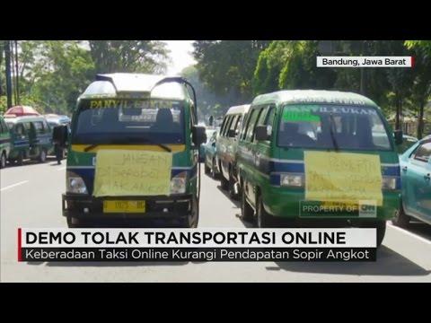 Demo Tolak Transportasi Online Berlangsung di Bandung