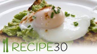 Easy poached eggs on avocado crush recipe