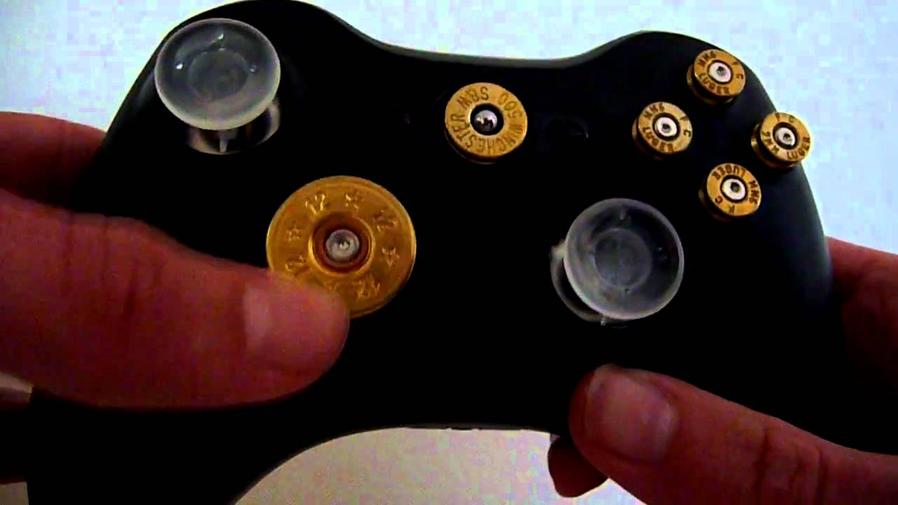 Custom Xbox 360 Controller With Bullet Buttons For Sale ...