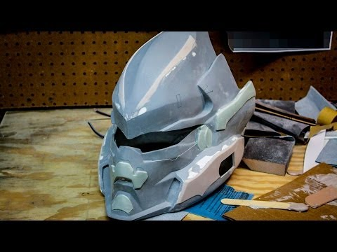 Halo 4 HAYABUSA - How To Detail Your Prop Helmet (BONDO TUTORIAL)