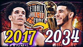 LONZO BALL'S ENTIRE NBA CAREER SIMULATION!   HALL OF FAMER?   BEST PASSER EVER?   NBA 2K20