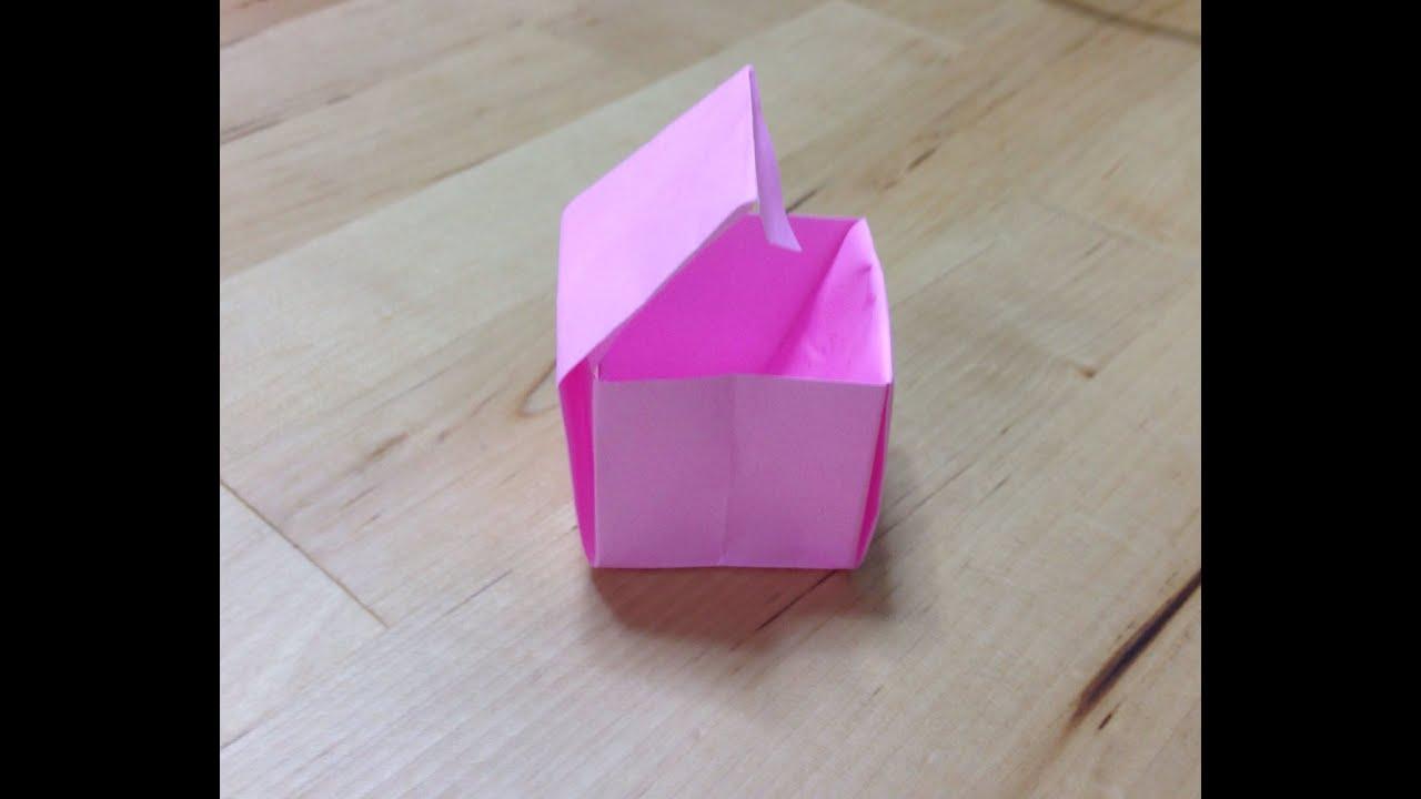 すべての折り紙 折り紙 作り方 箱 : 折り紙 蓋付き箱 折り方 作り方 ...
