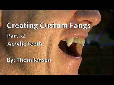 How To Make Custom Fangs - Part 2 (Acrylic Teeth)