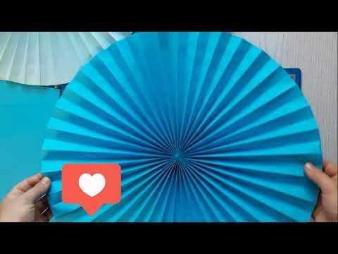1 часть Как сделать бумажный веер D30 Cm, 42 сm гирлянда/Make Paper Rosette Flower