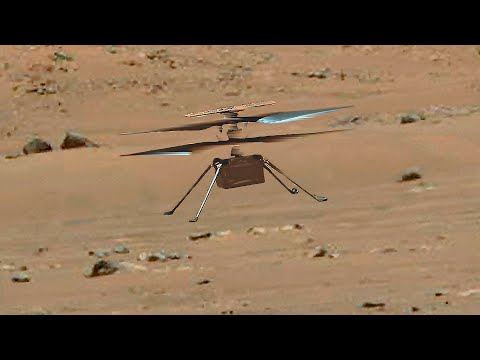 Mars Helicopter Ingenuity's 3rd flight in 4K for 100 meters distance