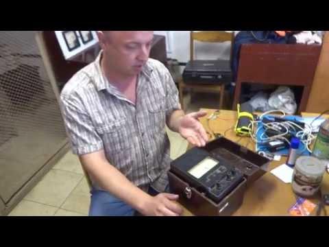 Подготовка к работе мегаомметра М 4100