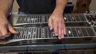hal rugg style lick exercise for the pedal steel guitar