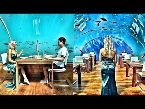 MALDIVES LUXURY TRAVEL VLOG + UNDERWATER RESTAURANT | Em Sheldon