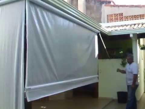 Toldos km toldos cortinas acionado por redutores youtube for Maquinas para toldos enrollables