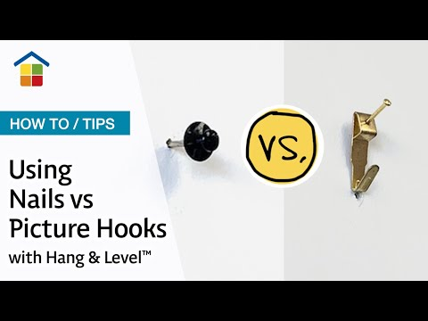 Using Nails Vs Hooks With The Hang Level Picture